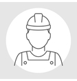 Worker avatar line icon vector image vector image
