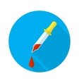 Pipette icon with a long shadow vector image
