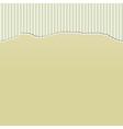 Beige Torn Paper on Stripes vector image