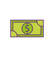 dollar money banknote cash shopping icon vector image