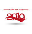 2019 new year bright red numbers on white vector image