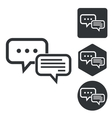 Answering icon set monochrome vector image vector image
