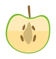 Apple slice vector image vector image