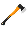 axe in flat design isolated on white background vector image
