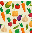 background of healthy vegetables vector image
