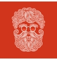 Beard and mustache of Santa Claus vector image vector image