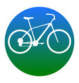 bicycle bike sign white icon in bluish vector image vector image