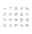 butchery line icons signs set outline vector image vector image