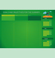 calendar for planning cases and goals vector image vector image
