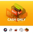 Cash only icon in different style vector image vector image