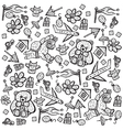 Child pattern with cute toy elements vector image vector image
