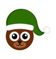 christmas cute bear avatar vector image vector image