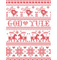 christmas pattern norwegian god yule vector image vector image