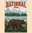 colorful national park poster vector image