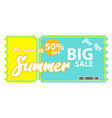 coupon discount design vector image
