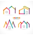 Creative house abstract real estate icons set vector image vector image
