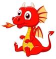 Cute baby dragon cartoon vector image vector image