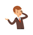 cute businessman character boy in a business suit vector image vector image