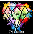 Diamond as background vector image