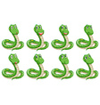Different snake expressions vector image