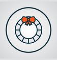 door decoration icon colored line symbol premium vector image