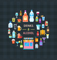 drinks and alcohol banner vector image vector image