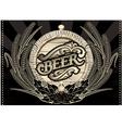 emblem beer barrel and barley for the menu vector image vector image