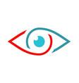 eye vision monitor optic logo vector image vector image