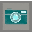 flat shading style icon camera vector image vector image