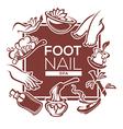 foot and nail spa vector image