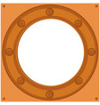frame ships porthole in steampunk style vector image vector image