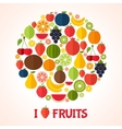 Fruits background Colorful template for cooking vector image vector image