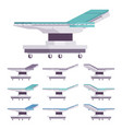 general surgical table set vector image