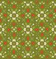 green and red festive winter star ornamental vector image vector image