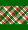 green red bright check fabric texture seamless vector image