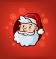 happy santa claus christmas or new year banner vector image vector image
