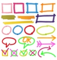Highlighter marks stripes strokes frames vector image vector image