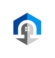 home architecture exterior logo vector image vector image