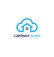 home cloud logo icon design vector image