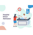 hospital direct admission vector image vector image