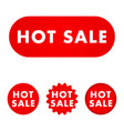 hot sale button vector image vector image