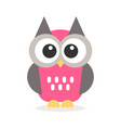 icon cute owl vector image vector image
