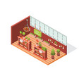 isometric flower shop vector image vector image