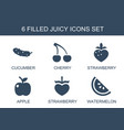juicy icons vector image vector image