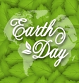 Leaves Texture Background for Earth Day Holiday vector image vector image