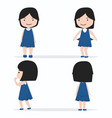 little girl character design set vector image vector image