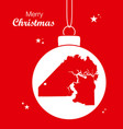 merry christmas theme with map of jacksonville vector image