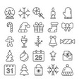 new year icons christmas party elements year vector image vector image