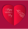paperart card sketch valentines day vector image vector image