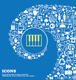 piano key icon Nice set of beautiful icons vector image vector image